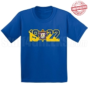 Sigma Gamma Rho T-Shirt with Crest and Founding Year, Royal Blue - EMBROIDERED with Lifetime Guarantee
