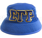 Sigma Gamma Rho Floppy Bucket Hat with Greek Letters, Royal Blue (SAV)