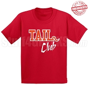 Tail Club T-Shirt, Red/White - EMBROIDERED with Lifetime Guarantee