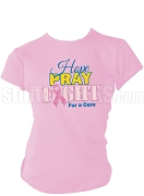 Sigma Gamma Rho Hope, Pray, Fight Breast Cancer Awareness Screen Printed T-Shirt, Pink