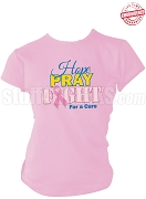 Sigma Gamma Rho Hope, Pray, Fight Breast Cancer Awareness T-Shirt, Pink - EMBROIDERED with Lifetime Guarantee