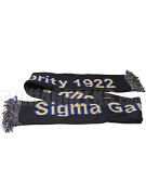 Sigma Gamma Rho Scarf with Organization Name and Founding Year, Black