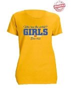 Sigma Gamma Rho Girls Run The World T-Shirt, Gold - EMBROIDERED with Lifetime Guarantee
