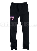 Sigma Lambda Gamma Run DMC Screen Printed Sweatpants, Black (AB)