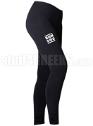 Swing Phi Swing Run DMC Screen Printed Athletic Leggings, Black (BC)