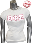 Theta Phi Sigma T-Shirt with Greek Letters, White -  EMBROIDERED with Lifetime Guarantee
