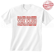 Tre Club (Gen1) T-Shirt, White - EMBROIDERED with Lifetime Guarantee