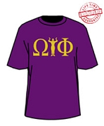 Omega Psi Phi Hook, Purple - EMBROIDERED with Lifetime Guarantee