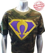 Camouflage Super Que T-Shirt - EMBROIDERED with Lifetime Guarantee
