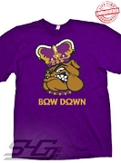 Bow Down, Purple T-Shirt - EMBROIDERED with Lifetime Guarantee