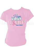 Zeta Phi Beta Hope, Pray, Fight Breast Cancer Awareness Screen Printed T-Shirt, Pink