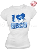 Zeta Phi Beta I Heart My HBCU T-Shirt, White - EMBROIDERED with Lifetime Guarantee
