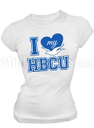 Zeta Phi Beta I Heart My HBCU Screen Printed T-Shirt, White