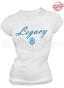 Zeta Phi Beta Legacy T-Shirt, White - EMBROIDERED with Lifetime Guarantee