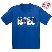 Zeta Phi Beta T-Shirt with Crest and Founding Year, Royal Blue -  EMBROIDERED with Lifetime Guarantee
