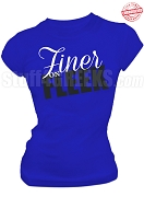 Zeta Phi Beta Finer on Fleek T-shirt, Royal - EMBROIDERED with Lifetime Guarantee