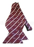 Kappa Alpha Psi Bow Tie with Greek Letters and Founding Year, Crimson/White - NO LONGER AVAILABLE