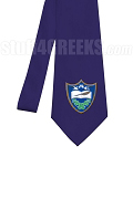 Chi Alpha Epsilon Necktie with Crest, Navy Blue