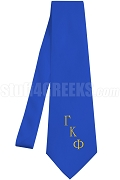 Gamma Kappa Phi Necktie with Logo Greek Letters, Royal Blue