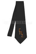 Gamma Pi Sigma Necktie with Greek Letters, Black