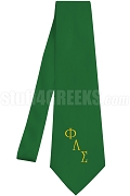 Phi Lambda Sigma Necktie with Greek Letters, Kelly Green