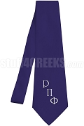 Rho Pi Phi Necktie with Greek Letters, Navy Blue