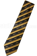 Alpha Phi Alpha Necktie with Greek Letters and Founding Year, Black/Gold - SOLD OUT