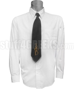 Zeta Phi Rho Necktie with Greek Letters, Black