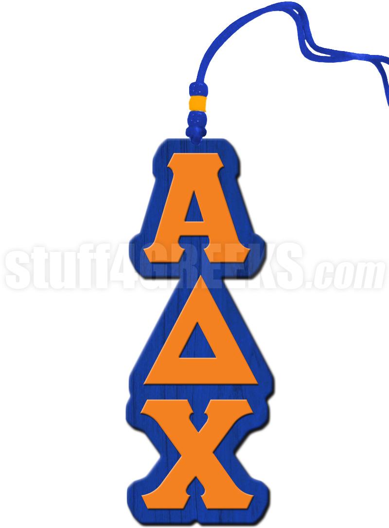Alpha Delta Chi Greek Letter Tiki Necklace