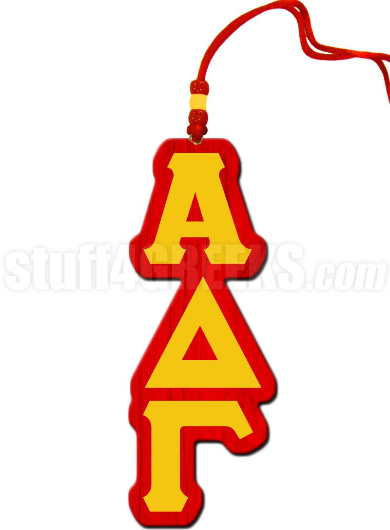 Alpha Delta Gamma Greek Letter Tiki Necklace