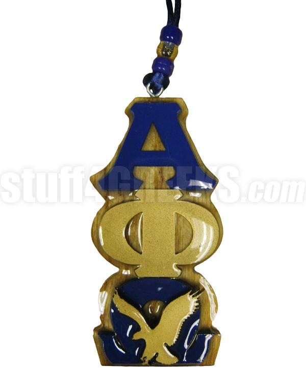 Alpha Phi Omega Greek Letter Tiki With Eagle