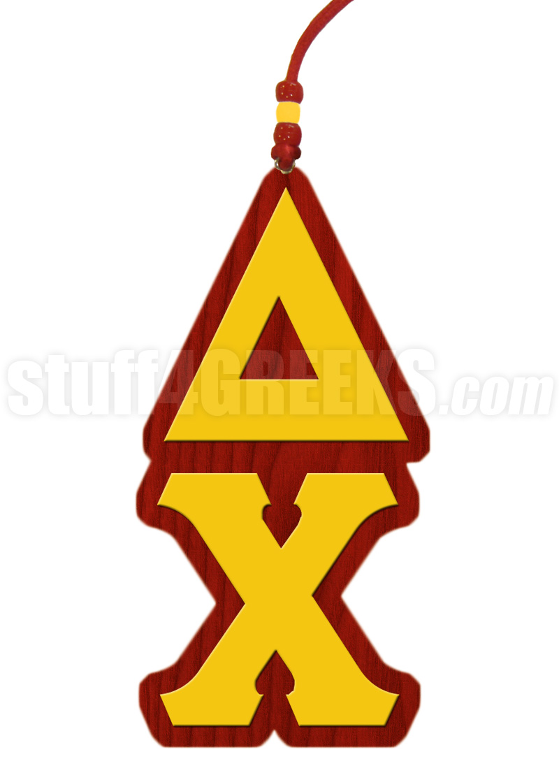 Delta Chi Greek Letter Tiki Necklace