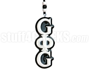 Groove Phi Groove Letter Tiki Necklace, Black