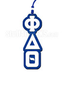 Phi Delta Theta Greek Letter Tiki Necklace