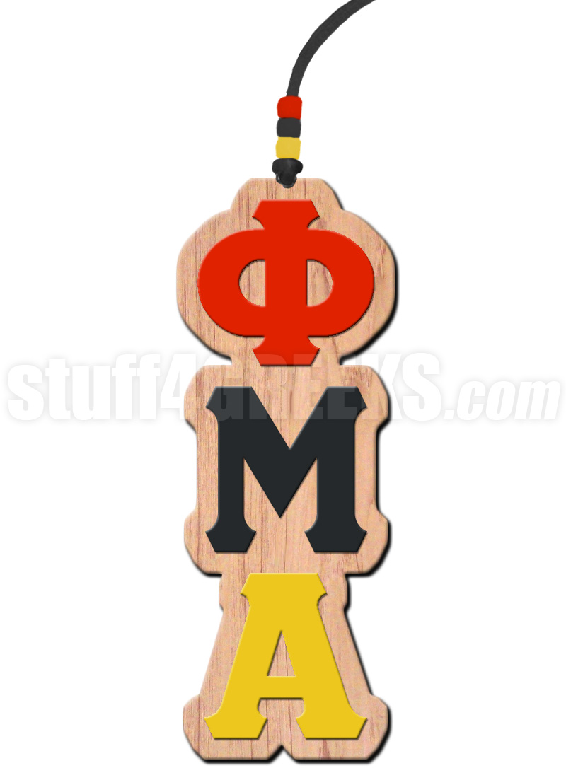 Phi Mu Alpha Greek Letter Tiki Necklace