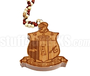 XXL Wooden Kappa Alpha Psi Tiki Crest Necklace (8.5 in. tall x 0.75 in. thick)