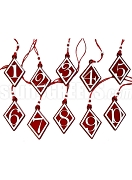 Kappa Alpha Psi Diamond Shaped Line Number Tiki Necklace (Customize with Your Line Number)