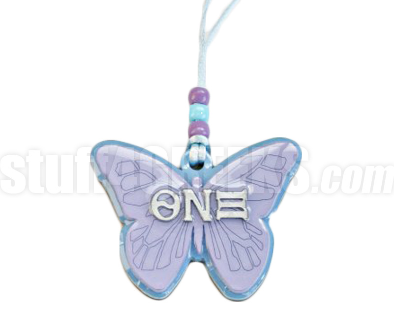 Theta nu xi butterfly tiki letter necklace for Theta xi letters