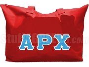 Alpha Rho Chi Tote Bag with Greek Letters, Sanguine