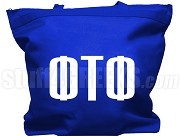 Phi Tau Phi Tote Bag with Greek Letters, Royal Blue