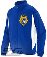 Alpha Phi Omega Large Crest Track Jacket (Men's), Royal/White