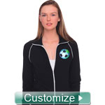 Personalized Embriodered Ladies Track Jacket