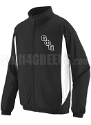 Groove Phi Groove Track Jacket with Logo Letters, Black