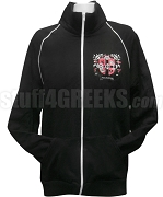 Theta Phi Sigma Track Jacket with Crest, Black