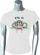 AKA Eta Xi Ribbon Screen Printed T-shirt