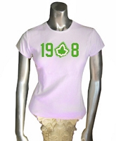 19-Ivy-8 Screen Printed T-Shirt, Pink