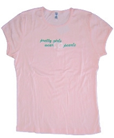 20 Pearls Ladies Screen Printed Tee, Pink