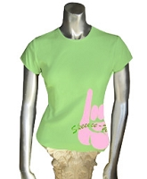 AKA Pinkie Screen Printed T-Shirt, Lime