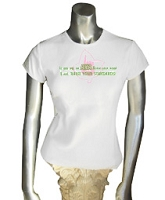AKA Standards Ladies Fitted Screen Printed Tee, White
