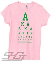 AKA Is All I See, Pink Screen Printed T-Shirt